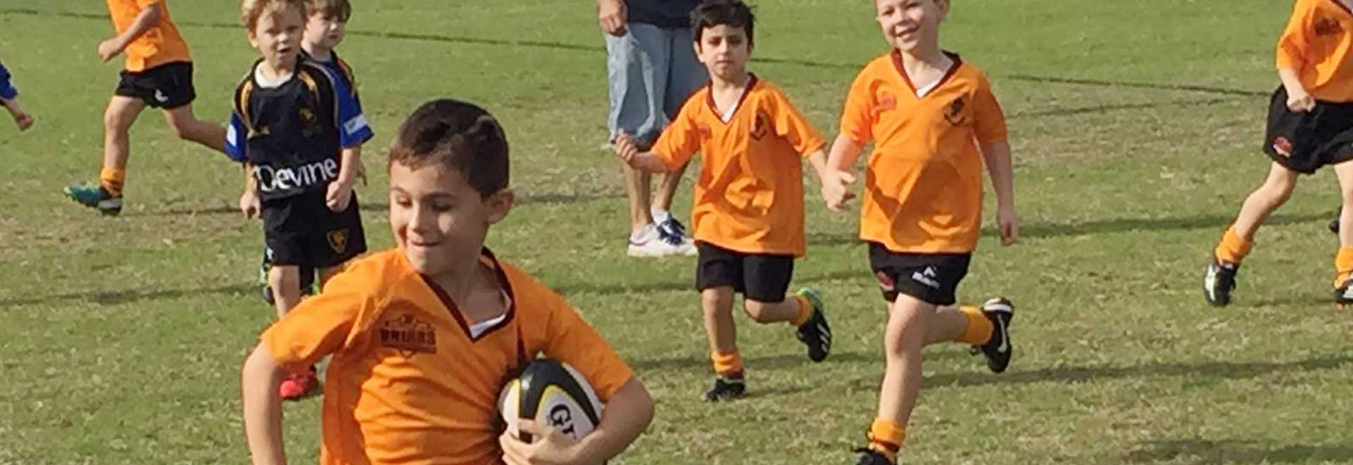 Kids love playing junior rugby at Briars Junior Rugby