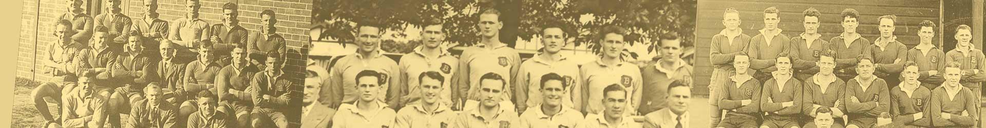 Old team photos of Briars Rugby teams